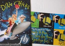 Dixie Chicks Fly 2-sided U.s. Promo Album Poster - Country, Bluegrass Music