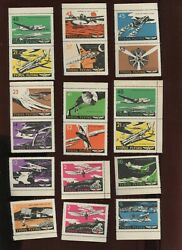 18 Vintage Tydol Flying Poster Stamps L1191 Military Airplanes And Aircraft Etc