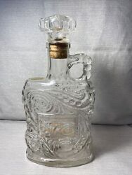 """Old Forester Clear Kentucky Bourbon Whiskey Decanter Bottle W Cork. 11"""" Tall"""