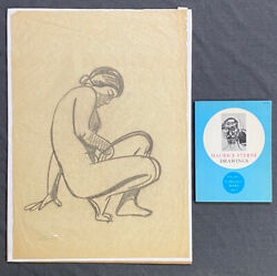 Maurice Sterne Signed Original Drawing On Paper With Book