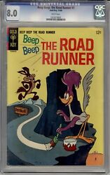 Beep Beep The Road Runner 1 Cgc 8.0 Wp Extremely Rare Only 12 On Census 1966