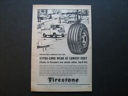 1964 Firestone Farm And Commercial Truck Tires Vintage 64 Ad From Private Estate