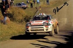 Didier Auriol Toyota Celica Turbo 4wd New Zealand Rally 1994 Signed Photograph 3