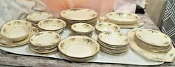 Large Lot Of 64 Dinnerware Pieces By Myott, Son And Co. England Paramount China