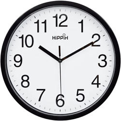 Modern Wall Clock Silent Non ticking Battery Operated 10quot; Round Clock Home Decor