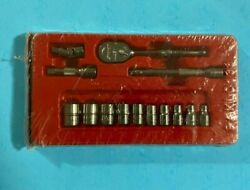 Snap-on 14 Pc 1/4 Drive 6-point Sae Shallow General Service Socket Set 114atmp
