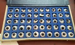 Eyes Artificial Prosthetic Set 50 Peices Realistic Human Natural Eye Mix Colour