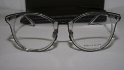 Bottega Veneta Rx Eyeglasses New Clear Transparent Bv0066o 003 50 21 150