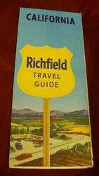 California Travel Guide Richfield Gas And Oil Road Travel Map 1950and039s Arco Mb