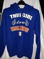 """Colts Football """"this Girl Loves Manning"""" Size Small Sweatshirt Blue Hoodie"""