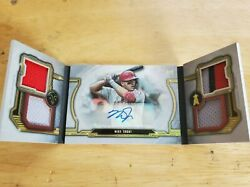 2020 Mike Trout Topps Triple Threads Windows Into Greatness Relic Auto Ser 3/5