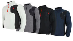 Spyder Menand039s Raider 1/4 Zip Pullover Sweater Color Options