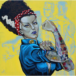 We Can Build It Mike Bell Tattooed Rosie Riveter Do It Unframed Canvas Art Print