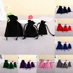 50 Velvet Bags Jewelry Wedding Party Favors Gifts Drawstring Pouches $10.06