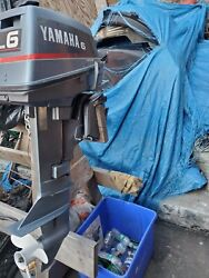 Andnbsp6hp Yamaha Outboard Motor 1992 -model 6mshq9 -2 Stroke..water Ready.great Deal