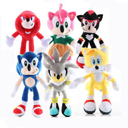 Soft Plush Toys Sonic The Hedgehog Shadow Tails Amy Rose Stuffed Dolls Kids Gift