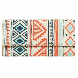 Women#x27;s Multicolor Clutch Bag Tribal Ethnic Purse Evening Party Clutches Bags $21.79