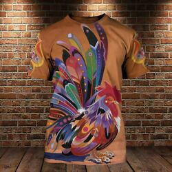 Chicken Rooster Farm Animal 3D All Over For Chicken Lover T Shirt 3D $18.95