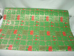 Wrapping Paper Roll--dept Store Red-green Gold Vintage Christmas Print
