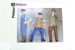 Preiser G 122.5 Lgb Scale 45028 Three Delivery Men / Workers  New In Box