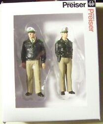 Preiser G 122.5 Scale Two German Standing Police Figures 44900