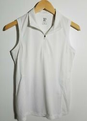 1 Nwt Ep New York Women's S/l Polo, Size Small, Color White J247