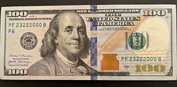 🔥100 Dollar Bill Uncirculatedfancy Serial/2017 Series 23222000🔥4and3 Of A Kind
