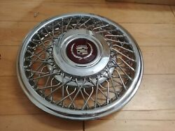 15 Cadillac Used Oem Wire Spoke Hubcap Wheelcover 1 1989-93 H2054 P22530797