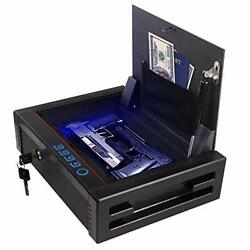 For Home Rugged Construction Auto Open Lid For Quick Access-biometric Gun Safe