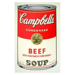 Andy Warhol Soup Can 11.49 Beef W/vegetables Silk