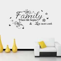 Beautiful Home Décor Love Family.... Removable Vinyl Art Bedroom Wall Stickers