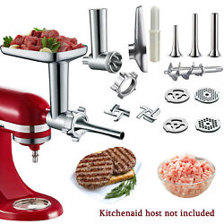 16pcs Food Meat Grinder Attachment For Kitchen Aid Stand Mixer Sausage Beef Home