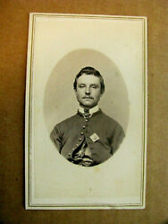 Iowa Civil War Identified Officer With 15th Corp Badge Cdv Photo
