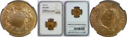 1868 Two Cent Piece Ngc Ms-64 Rd
