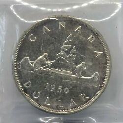 1950 Canadian Silver Dollar 1 Iccs Ms-64 Arnprior
