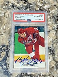2003 Bap In The Game Itg Action Brett Hull 226 Auto Psa/dna Slabbed Authentic