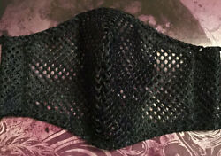 NEW COLOR Athletic Mesh Cool Breathable light weight Face Mask Now In Black. $9.95