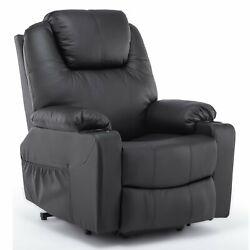 Luxury Leather Massage Chairs Power Lift Recliner Chair Adjustable Lounge Sofa