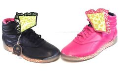 Womens Reebok Keith Haring V53701 Freestyle Hi Int R12 Black Pink Sneakers Shoes