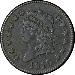 1810/09 Large Cent Choice Xf Details S.281 R.1 Nice Eye Appeal Nice Strike