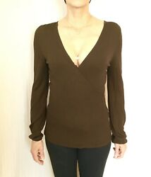 Ann Taylor Loft Pullover Sweater Wrap Brown Size Small