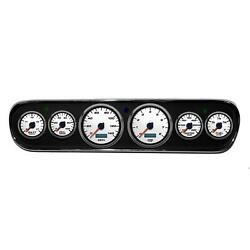 New Vintage Usa 02706-03 6 Gauge Performance Ll Wht 64-66 Mustang