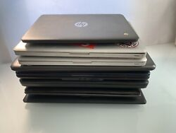 Mixed Lot Of 8 Macbooklenovohpdell Etc. Laptops I3 I5 Mixed For Parts