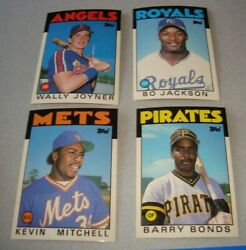 1986 Topps Update/traded Set Barry Bonds Rc Bo Jackson Canseco Sharp B