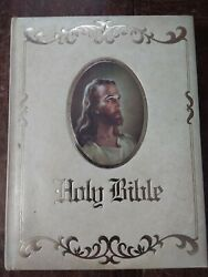 Vintage Holy Bible King James Version Royal Family Keepsakes Edition Red Letter