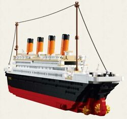 Titanic Cruise Boat Ship City Model Building Kits 3d Blocks Toy Educational