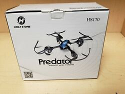 Holy Stone Hs170 Predator Mini Rc Helicopter Drone 2.4ghz 6-axis Gyro 4 Channels