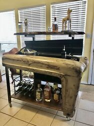 Bar Cart Man Cave Vintage Tractor Ford