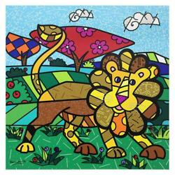 Britto Leo Hand Signed Limited Edition Giclee On