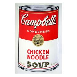 Andy Warhol Soup Can 11.45 Chicken Noodle Silk
